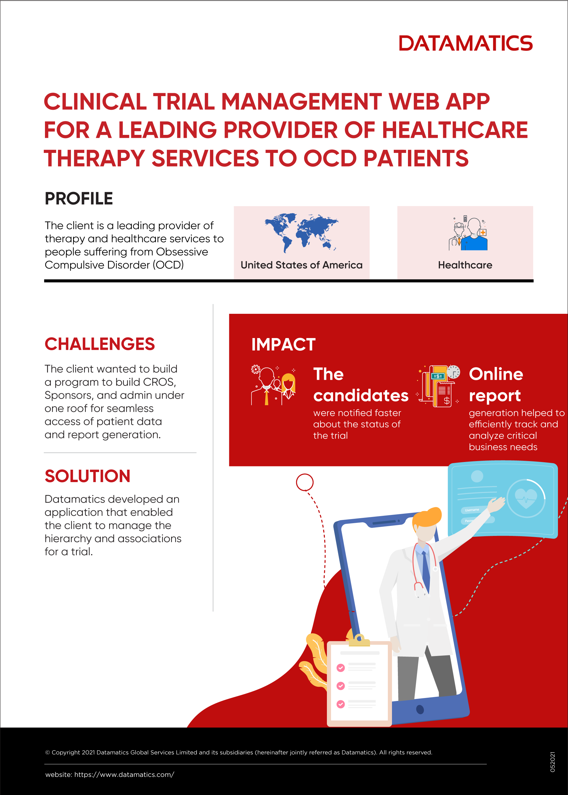 Infographics on Web App Development for a Healthcare Provider