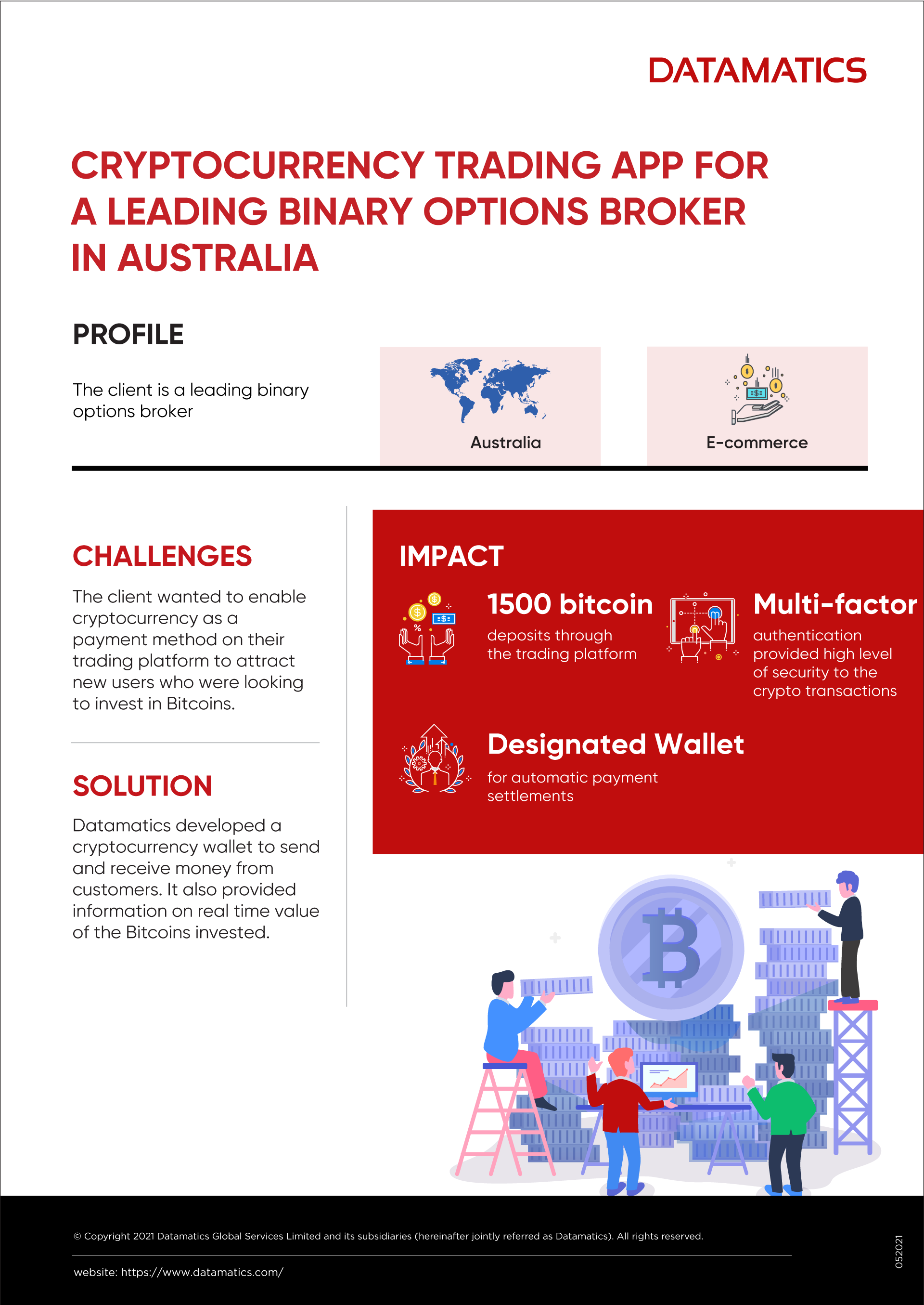 Case Study Infographic on Cryptocurrency Trading App Development