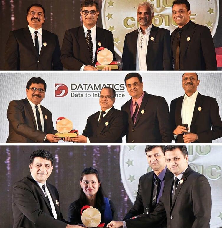 Datamatics creates a hat trick at the CIO Choice 2018 awards_1-1