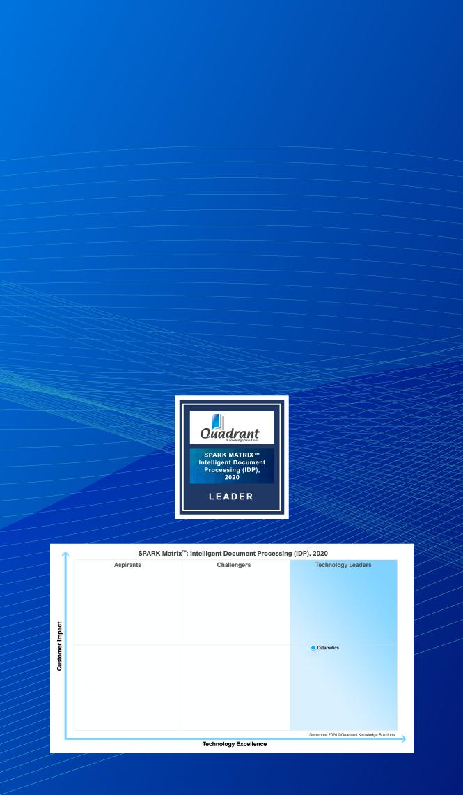 Datamatics TruCap+ Recognized in SPARK Matrix IDP 2020