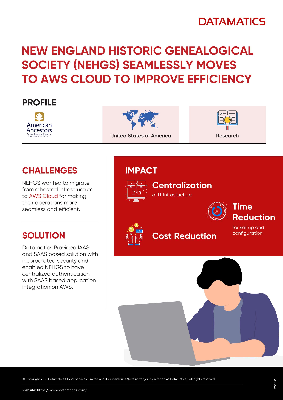 AWS Cloud Migration Case Study Infographic
