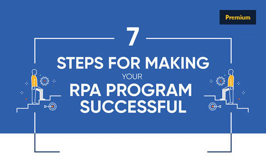 7 Steps for Making your RPA Program Successful Infographics