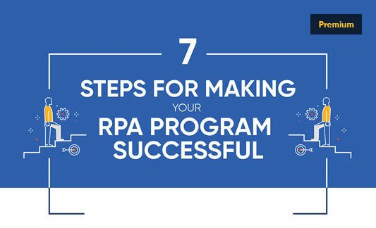 7 Steps for Making your RPA Program Successful Infographic