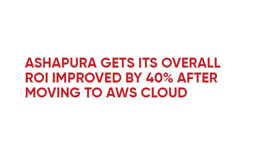 Infographic - Ashapura gets its overall ROI improved by 40% after moving to AWS cloud