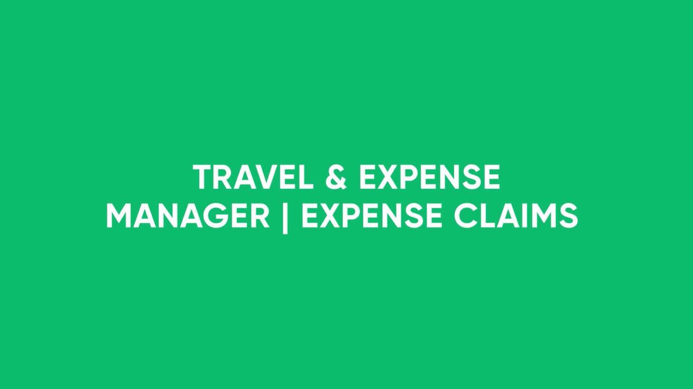 Travel & Expense Manager Demo Video