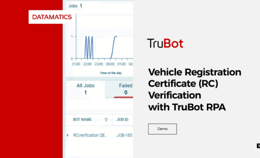 TruBot RPA enabled Vehicle RC Verification Demo