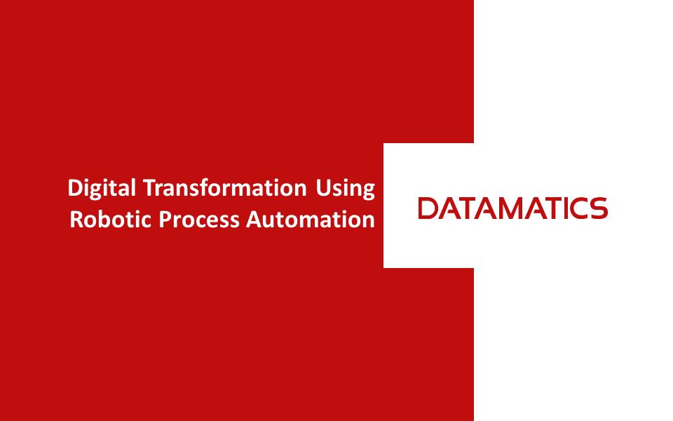 Digital Transformation with RPA webinar