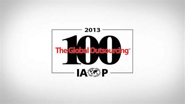 IAOP 2013 Global Outsourcing 100 List
