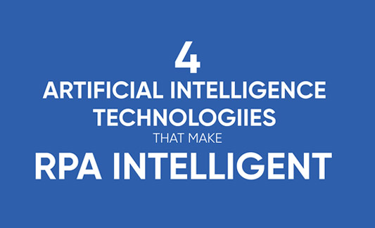 Infographics - 4 Artificial Intelligence Technologies that make RPA Intelligent