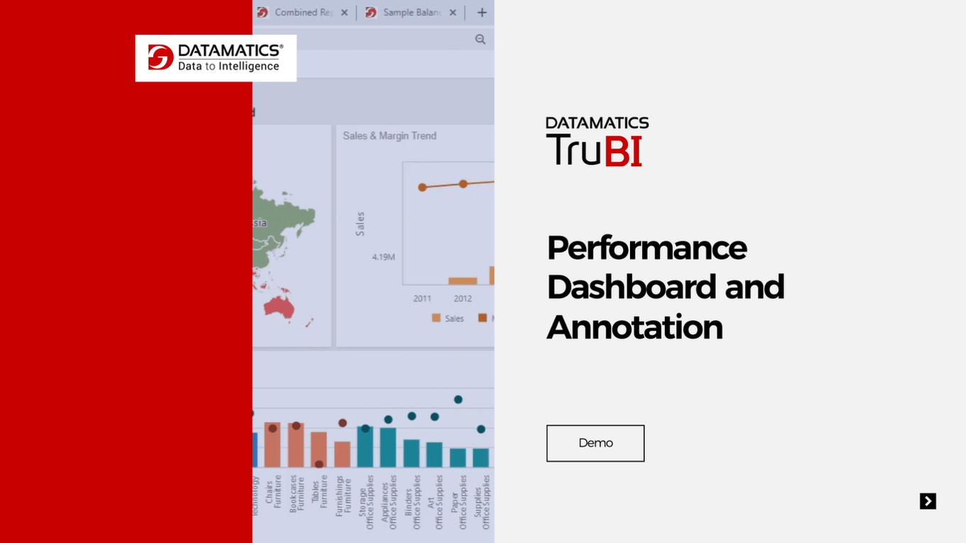 TruBI - Business Intelligence (BI) and Data Visualization Tool Performance Dashboard and Annotation Demo