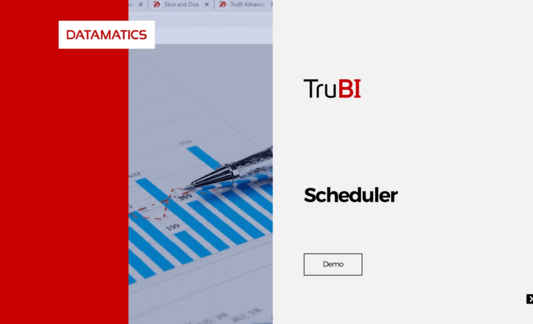 Datamatics TruBI Scheduler Demo