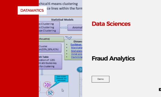 Data Sciences - Fraud Analytics Demo Video