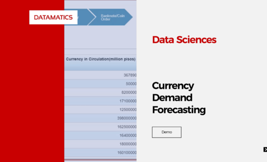 Data Sciences – Currency Demand Forecasting Demo