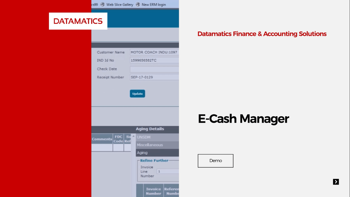 e-Cash Manager Demo