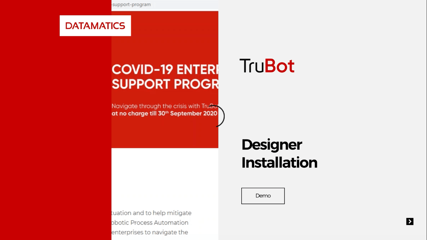 Datamatics TruBot Designer Installation Demo