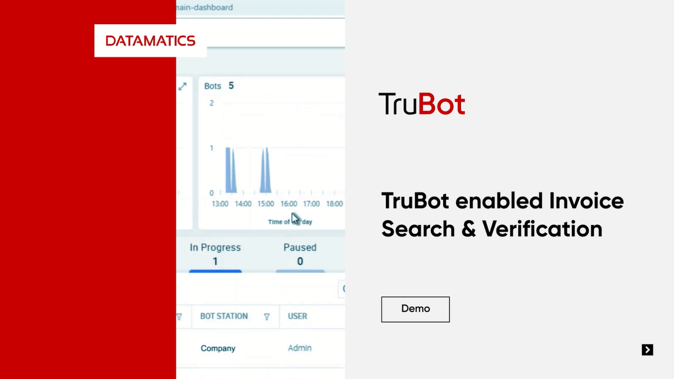 TruBot enabled Invoice Search and Verification Demo