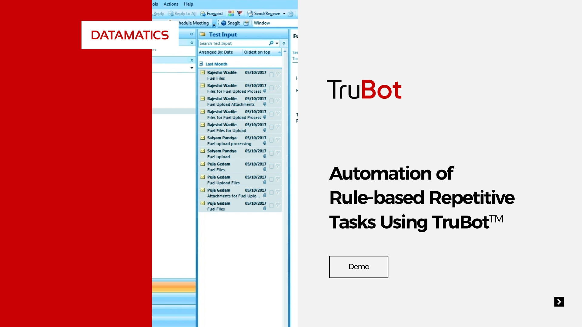 screenshot Automation of Rule-based Repetitive Tasks Using TruBot
