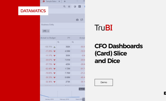 Datamatics TruBI CFO Dashboards Demo