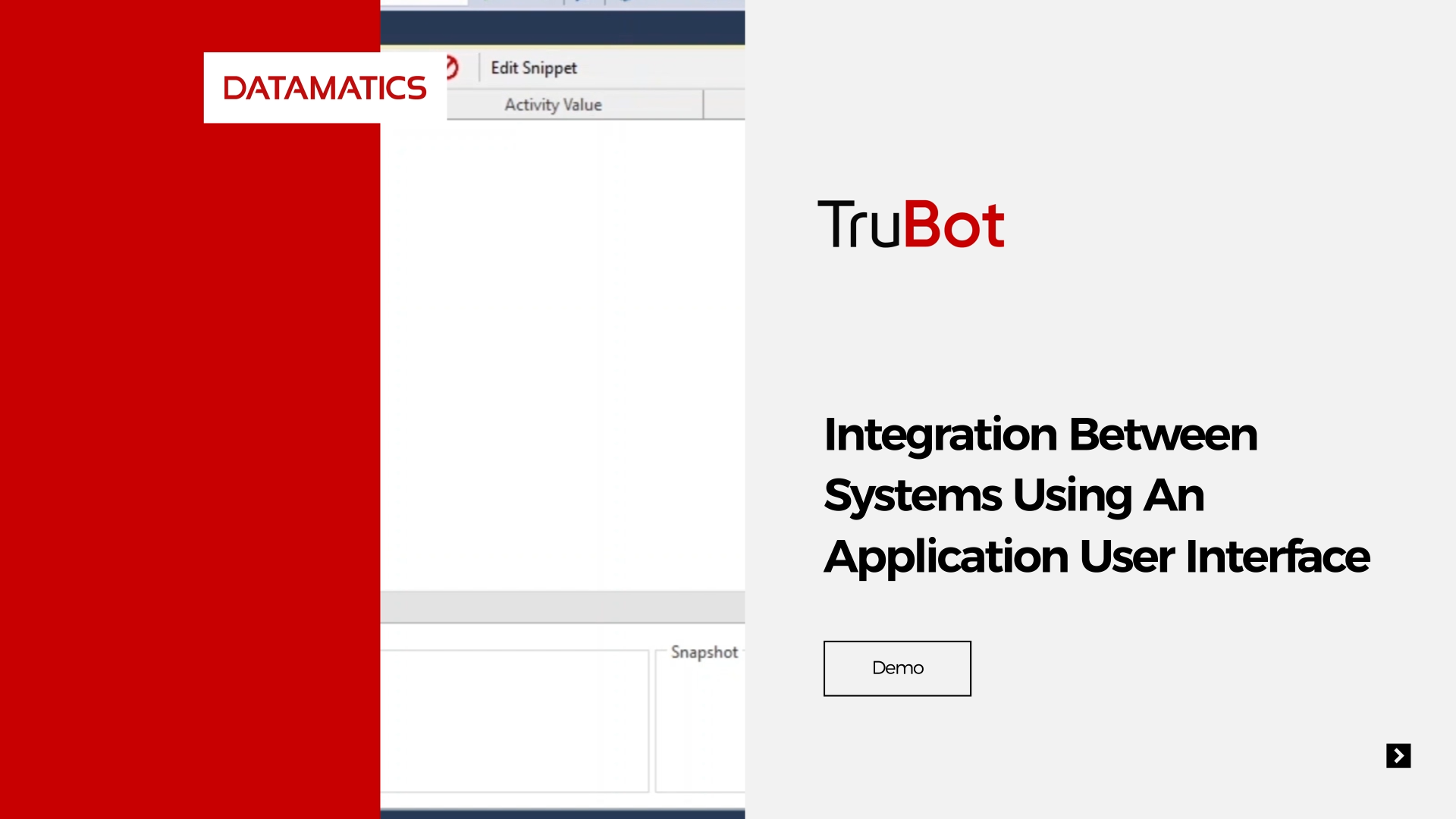 screenshot Integration Between Systems Using An Application User Interface