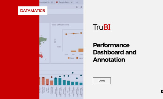 Datamatics TruBI Performance Dashboard and Annotation Demo