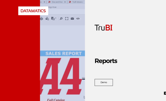 Datamatics TruBI - Business Intelligence (BI) and Data Visualization Tool Reports Demo Video